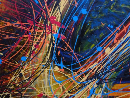 Abstract schilderij van Paul Kerrebijn